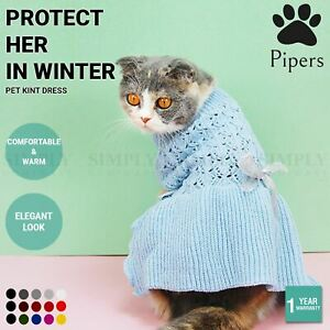 Pipers Pet Knit Dress Small Dogs Cats Skirt Sweater Winter Clothes Warm Acrylic
