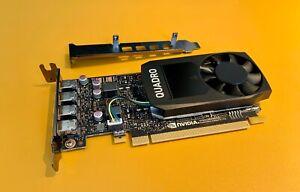 Nvidia Quadro P1000 4GB GDDR5 Mini DP x4 Graphics Card with LP Bracket - 4x 4K