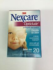 Nexcare Opticlude Junior Eye Patch Box of 20  - Brand New