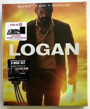 NEW MARVEL LOGAN BLU RAY DVD NOIR & DIGITAL HD 3 DISC TARGET EXCLUSIVE DIGIBOOK