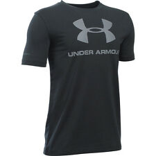 Under Armour Sportstyle Logo Boys Short Sleeve T-Shirt black-steel 1286031-001