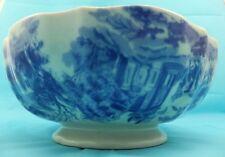 Vintage Victoria Ware Bowl Ceramic dish Fruit Bowl Blue White