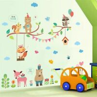 Forest Jungle Wild Animals Wall Sticker For Kids Rooms Wall Decal Mural Shop Sto