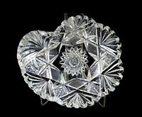 "ABP AMERICAN BRILLIANT PERIOD CUT CRYSTAL HOBSTAR 6 1/4"" KIDNEY SHAPE DISH"