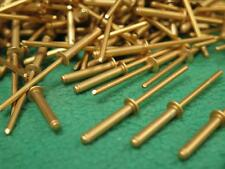 "500 pc BRASS GOLD COLOR ALUMINUM BLIND HOLE POP RIVET 1/8"" .501-.625 GRIP 1/4"" D"