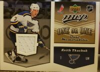 Martin HAVLAT Keith TKACHUK 2006-07 UD MVP NHL Dual Game Used Worn Jersey Relic