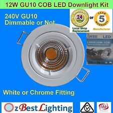 12W GU10  COB LED  Dimmable or Non-Dim Downlight Kit - 70mm or 90mm Cutout