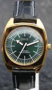 Luxury Vintage Gold Plated Case FHF ST96 HAND WIND Swiss Movement Men Wristwatch