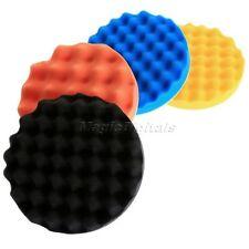"4Pcs 180mm/7"" Waffle Polishing Buffer Pad Foam Buffing Pad Kit For Car Polisher"