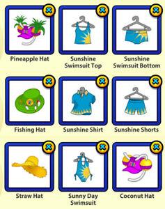 RETIRED 2016 Webkinz Vacation Island 3-pc Clothing Lot: Sheldon's Souvenir Shack