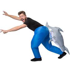 Selbstaufblasbares Unisex Kostüm Hai aufblasbar BlowUp Fasching Karneval