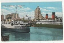 Marine Building From Waterfront Vancouver Canada Vintage Postcard US125