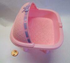 PLAYSKOOL Dollhouse TWIN BABY BED BASSINET CRIB for 2.5 inch INFANT DOLLS Rare!