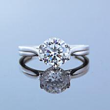 8af2c4fad84c Redondo D Vvs1 Diamante 14k Acabado en Oro Blanco Seis Engaste Compromiso
