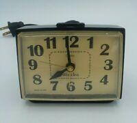 Westclox Dialite W/Drowse Vintage 1970's Electric Alarm Clock Model 22194-Works