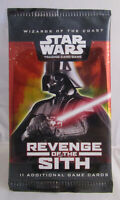 New & Sealed 2005 Star Wars TCG Revenge of the Sith Booster Pack - 11 Cards