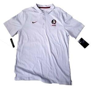 Florida State Seminoles FSU Nike Dri Fit Polo Golf Shirt Grey Large CN7963-012