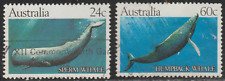 Australia 1982 Sc# 821, 824 - Sperm Whale - Humpback Whale - Used Lot # 131