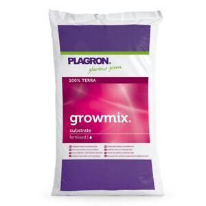 Plagron Growmix 25L - Pflanzenerde vorgedüngt Erdsubstrat Terra  (0,48 EUR/l)