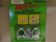 "KWIK-SITE1"" DOVETAIL RINGS ATTACHES TO WEAVER STYLE BASES SILVER FINISH"