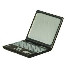 Dolls House Black Lap Top Laptop Computer Metal Miniature Modern Accessory