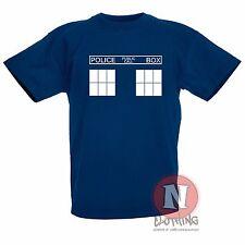 Tardis infantil Camiseta 3-13 Años Estampado Dr Who Ventilador Whovian
