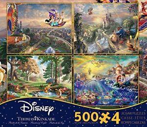 Thomas Kinkade Disney set of 4 x 500 piece puzzles V4
