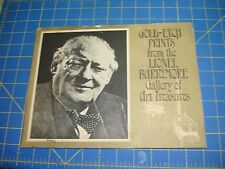 LIONEL BARRYMORE GALLERY OF ART TREASURES GOLD ETCH PRINTS