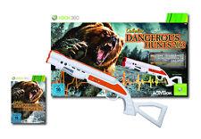CABELAS DANGEROUS HUNTS 2013 + Top Shot fearmaster GUN PISTOLA PER XBOX 360
