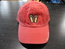 Life Is Good Strap Back Hat Cap Peach Yellow Sandals Womens Beach Casual Ladies