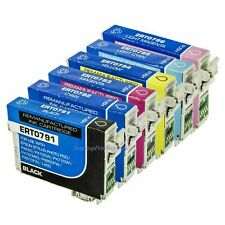6x BK & Color Ink Cart For Epson 79 T0791 - T0796 Stylus Photo 1400 Artisan 1430
