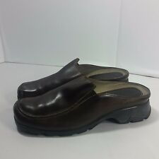 Women's Timberland SMART COMFORT Clogs Shoes Walking Hiking Brown Leather -10 M