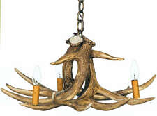 Cast Rustic Cabin Whitetail Antler Chandelier/Pendant Made In USA