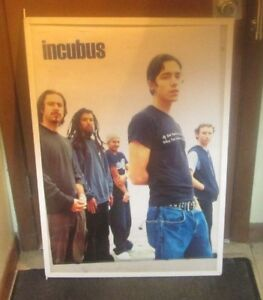 INCUBUS POSTER NEW 2001  RARE VINTAGE COLLECTIBLE OOP BAND SHOT