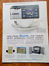 1963 Bulova Transistor Clock Radio Ad The Tiniest Most Advanced
