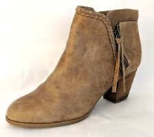 REPORT Women's Tan Chloey Booties Ankle Boots with Braided Trim - Size 8