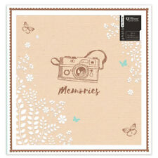 "Large Photo Album Ringbinder Camera Memories Design Holds 500 6""x4"" Photos JAKR"