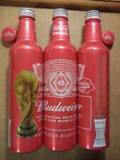 16 oz. Budweiser 2018 FIFA World Cup  Aluminum Beer Bottle  FREE SHIPPING in USA