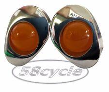 2004-2005 Honda CBR1000RR Greggs Custom Signals Polished Amber Front Lights