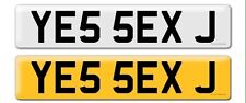 Private Number Plate Jay James Jason Jamie Jy Sex Funny Rude YE55 EXJ