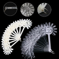 120pcs False Display Nail Art Fan Wheel Polish Practice Pop Sticks Tips Tool DIY