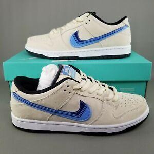 Nike SB Dunk Low Pro Truck It Skate Shoes Mens Size 8.5 Light Cream Deep Royal