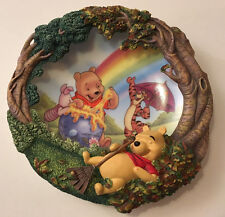 DISNEY LIMITED ED 'POOH'S SWEET DREAMS' 3D PLATE 'THE SWEETEST SORT OF TREASURE'