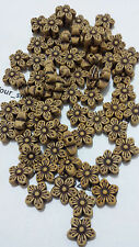 50 x New Imitation Wood Plastic Flower Loose Findings Spacer Beads 16x5mm