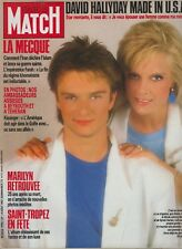 Paris Match N°1994 du 14 août 1987 Sylvie Vartan et David Halliday