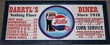 Personalized Vintage Diner Style Soda Menu Board w/ Pepsi Cola Glass Tin Sign