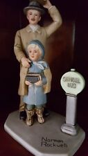 Vintage Norman Rockwell Bus Stop Figurine Americana 1983