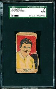**BABE RUTH** 1923 W515-2 #3 Babe Ruth Yankees SGC Authentic