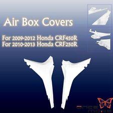 White Plastic Air Box Covers For Honda CRF 450R 2009-2012 Motorcycle Dirtbike