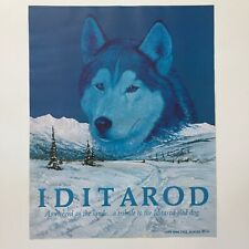 1985 Iditarod Poster Print Hand Signed Jon Van Zyle Sled Dog
